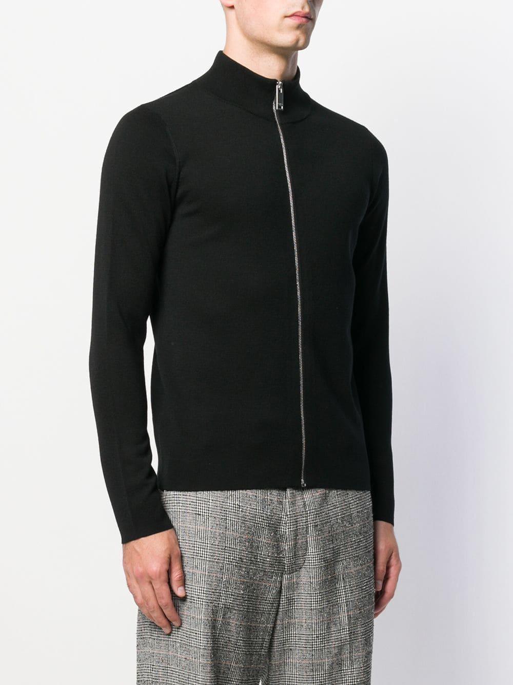 Sandro Wol Vest Met Rits in het Zwart voor heren