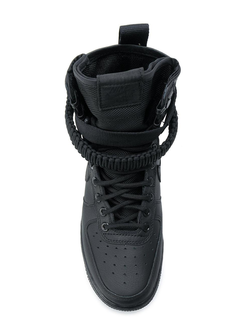 Nike Leather Sf Air Force 1 Sneakers in Black
