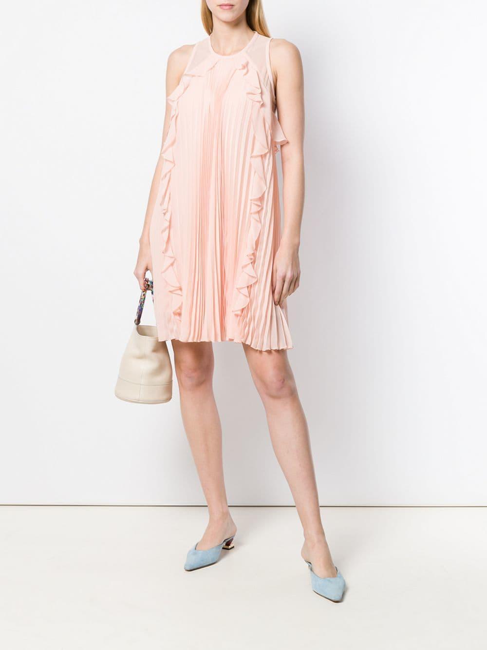 be78b45f1ce Liu Jo - Pink Plisse Sleeveless Mini Dress - Lyst. View fullscreen