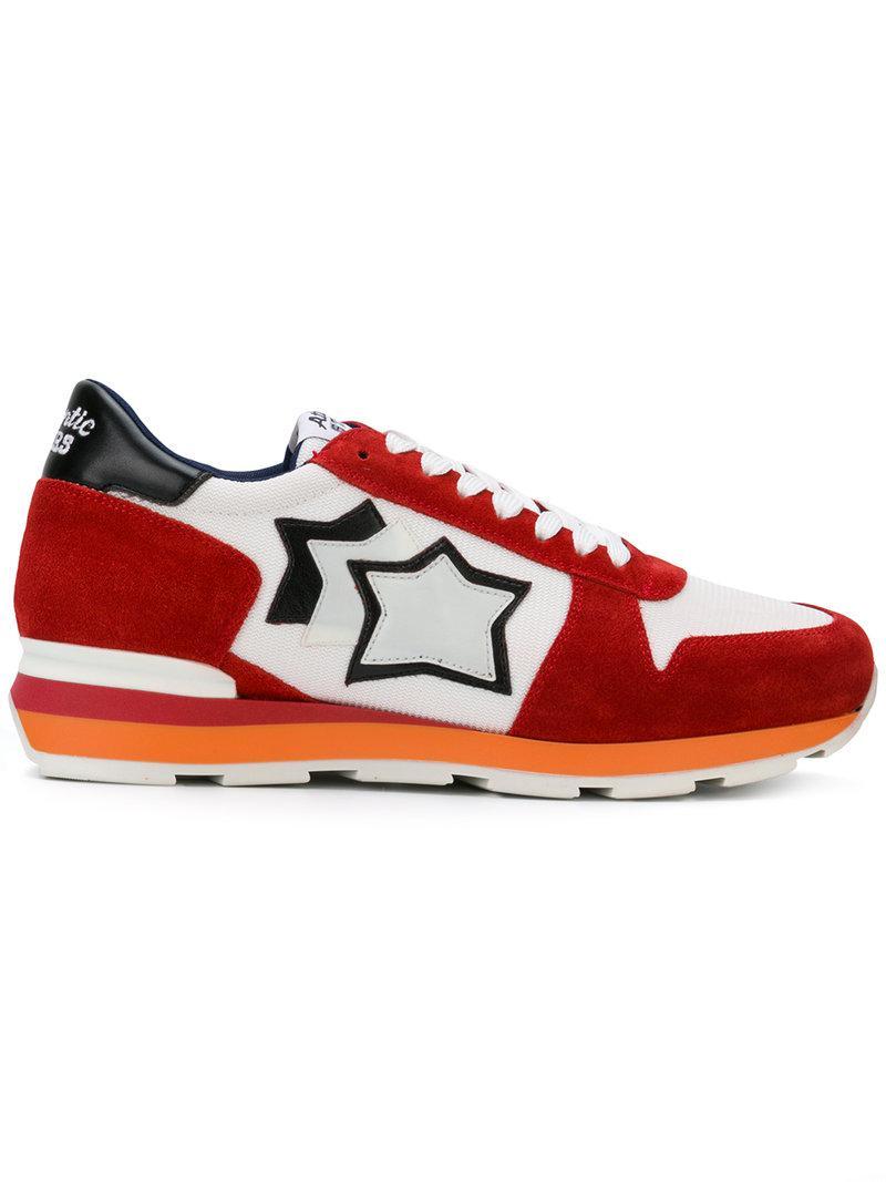 Zapatillas Deportivas de Hombre Atlantic Stars de Cuero de color Rojo para hombre
