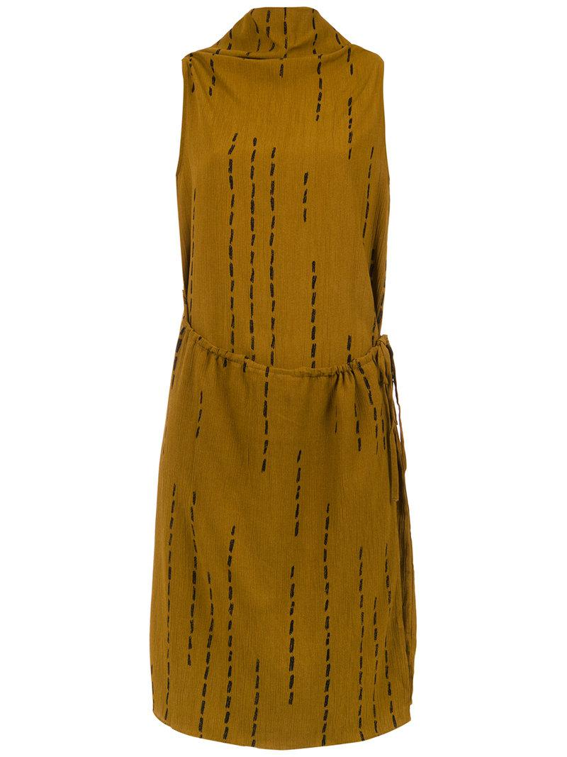 Modern micro-pleated dress - Yellow & Orange Uma Free Shipping Wiki Buy Cheap Clearance Store Clearance Sale btqhqj