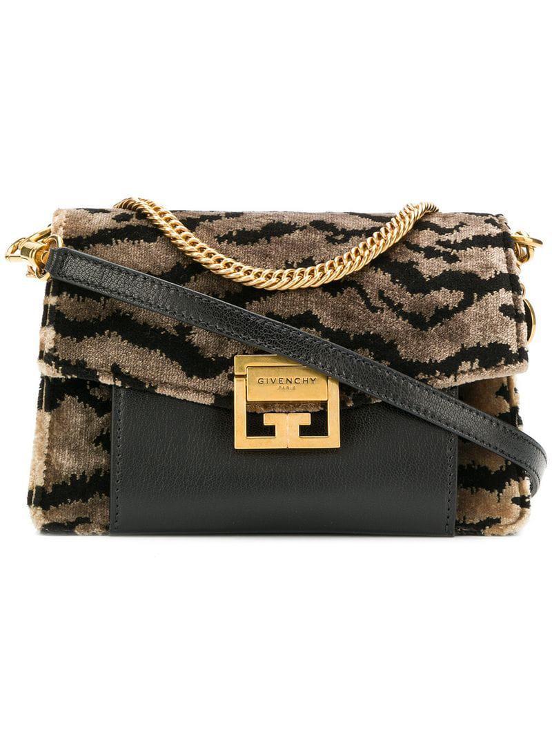 Givenchy - Black Mini Gv3 Cross Body Bag - Lyst. View fullscreen 42608dc8c530e