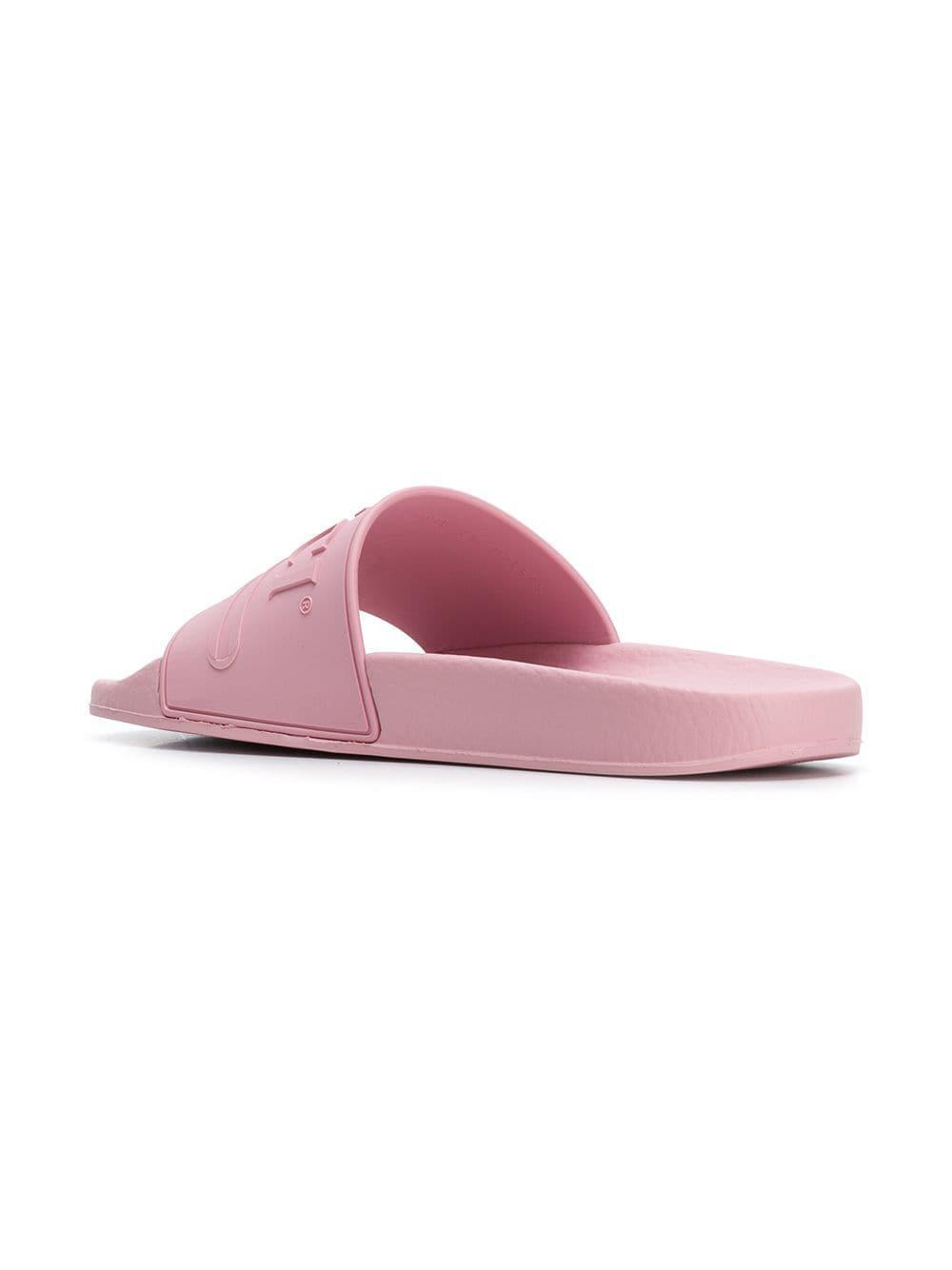 00a1c7fc8d6c8c Gucci - Pink Logo Slides - Lyst. View fullscreen