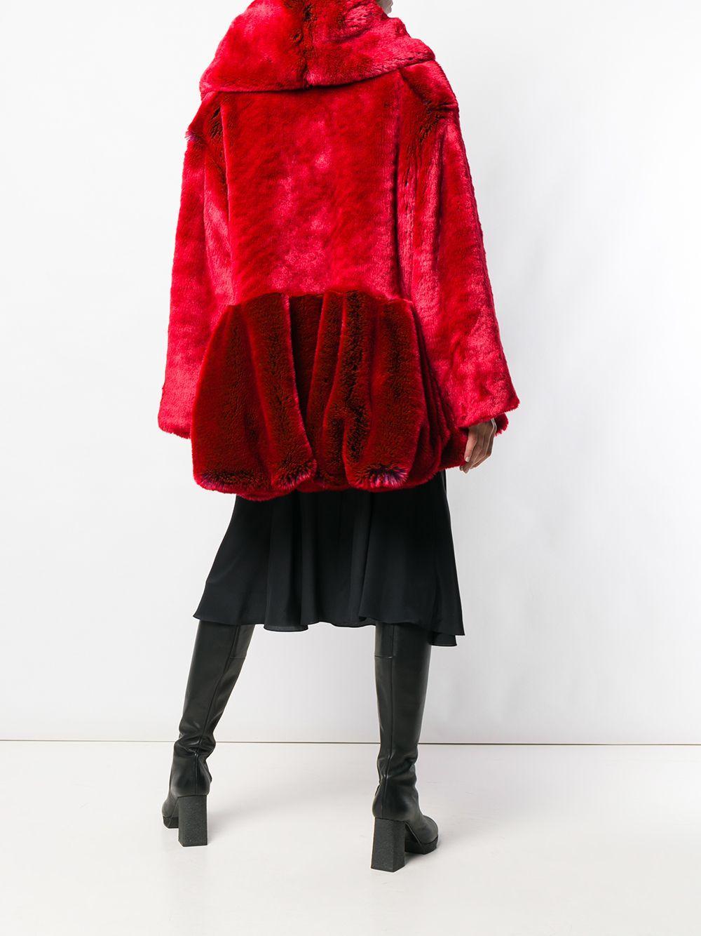 Manteau texturé à col oversize Chalayan en coloris Rouge 71kwa