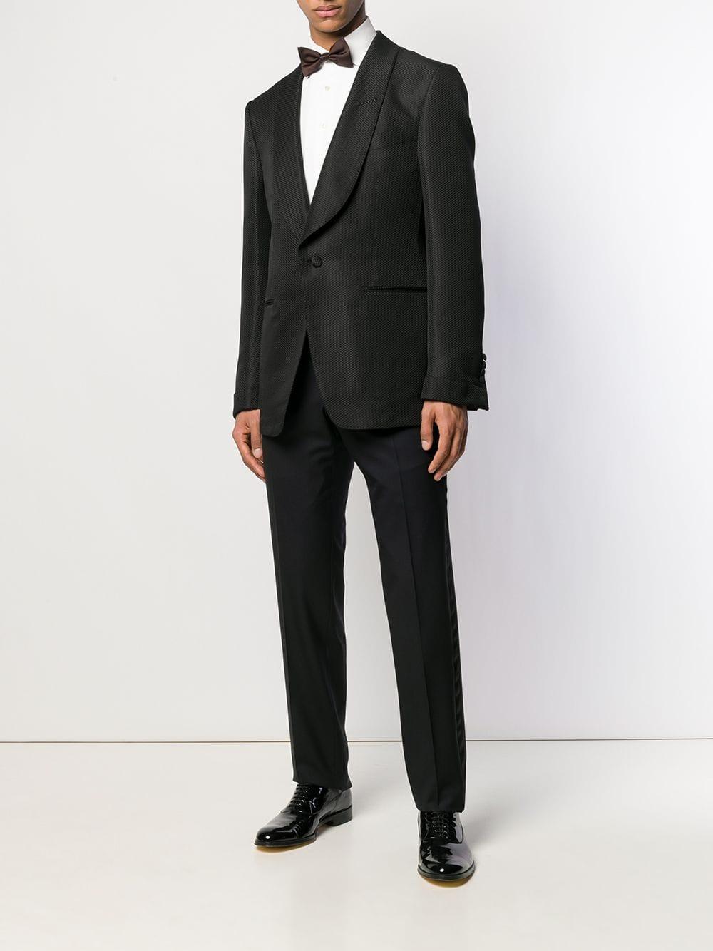 Tom Ford Zijde Blazer Met Textuur in het Zwart voor heren