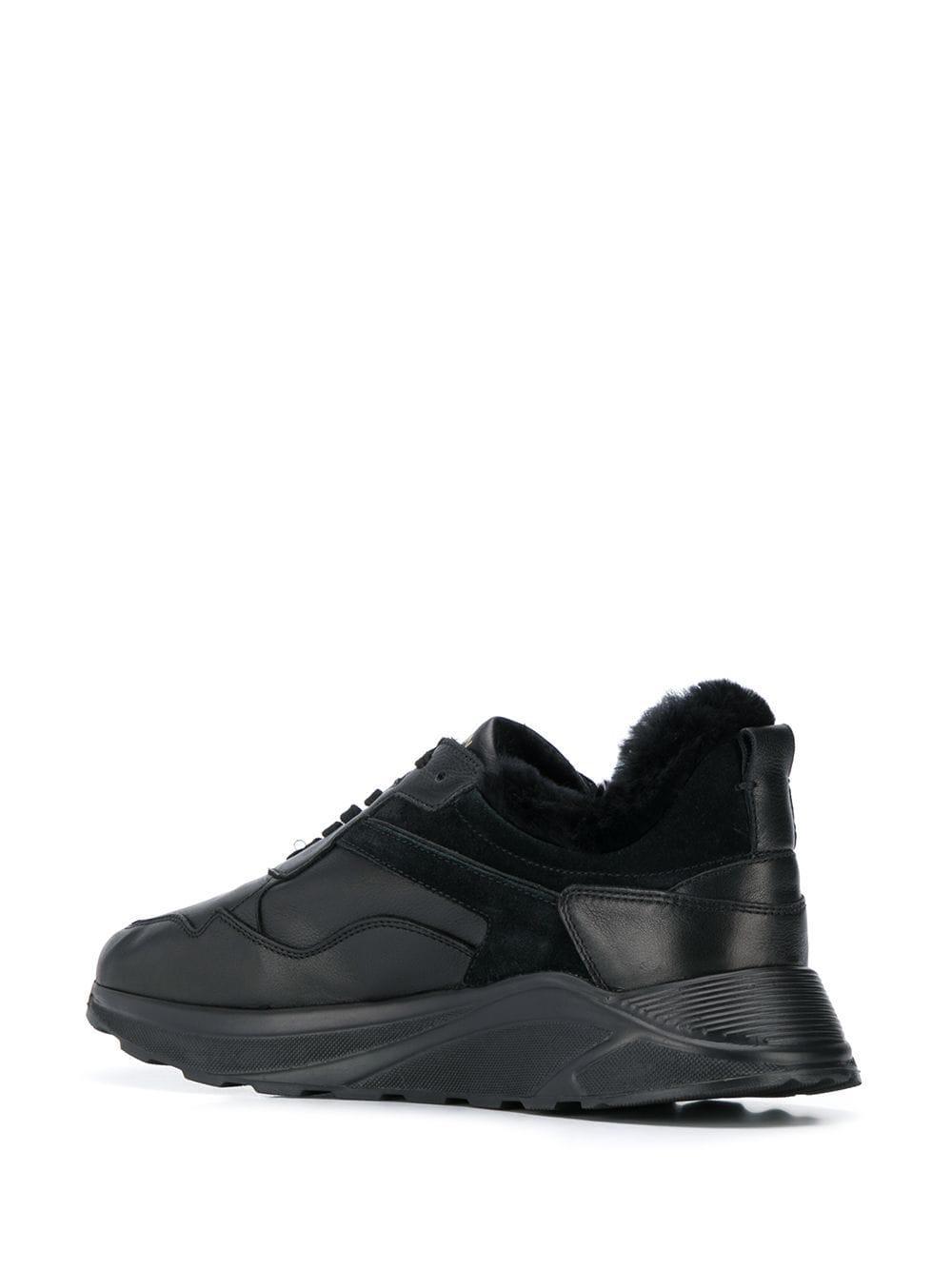Henderson Rubber Sneakers Met Lammy Voering in het Zwart voor heren
