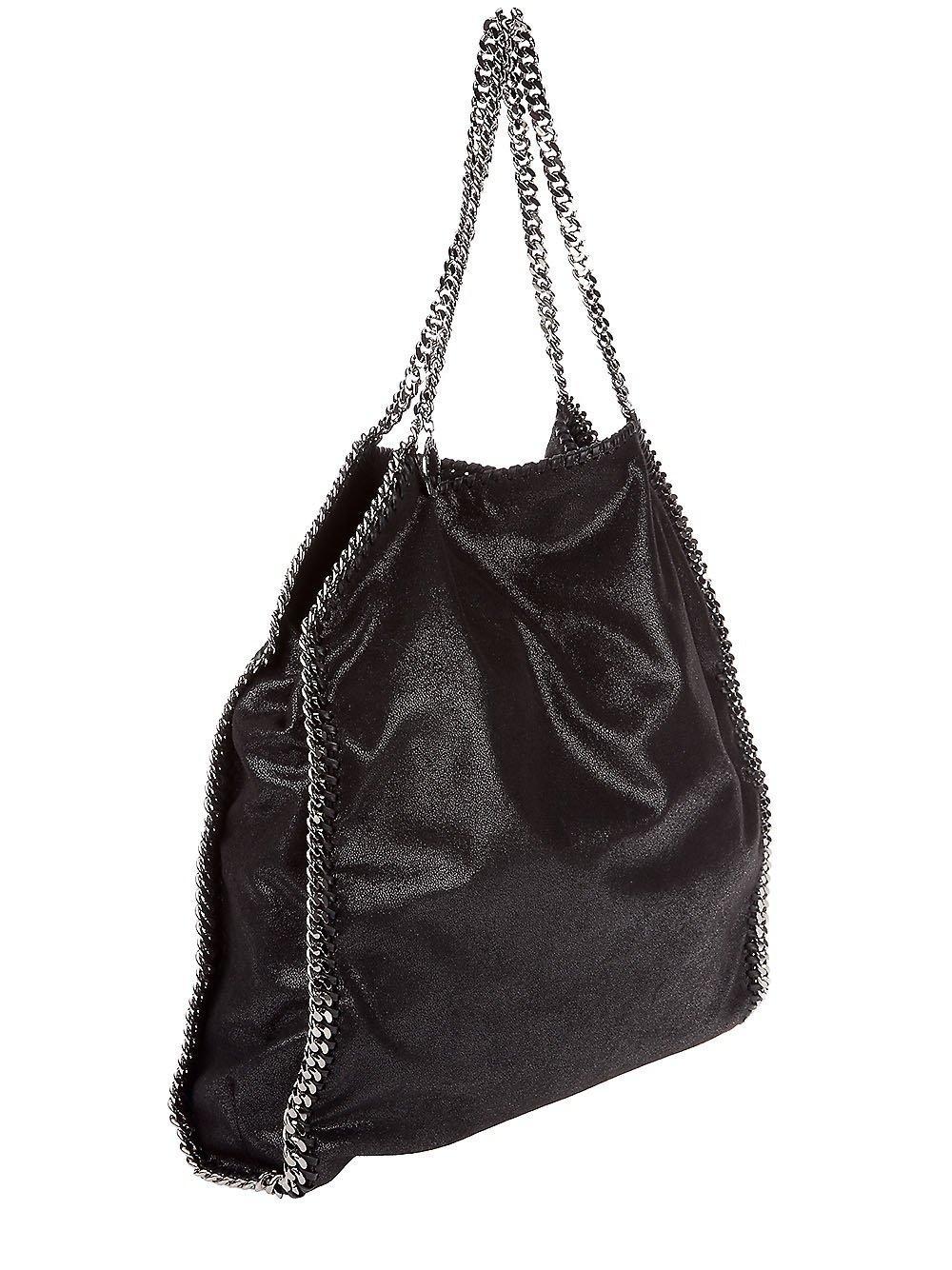 Stella Mccartney Black Falabella Tote Bag. Stella mccartney Falabella Large  Faux-Python ... 21f14314d649d