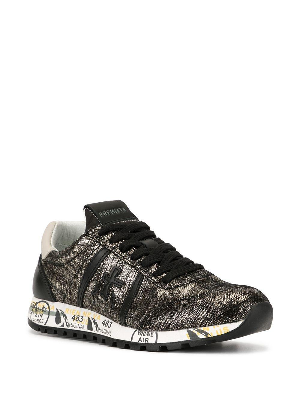 Zapatillas con logo y motivo metalizado Premiata de Cuero de color Marrón