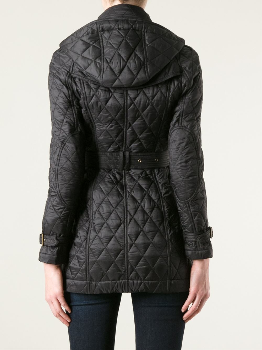 Lyst Burberry Quilted Trench Coat In Black