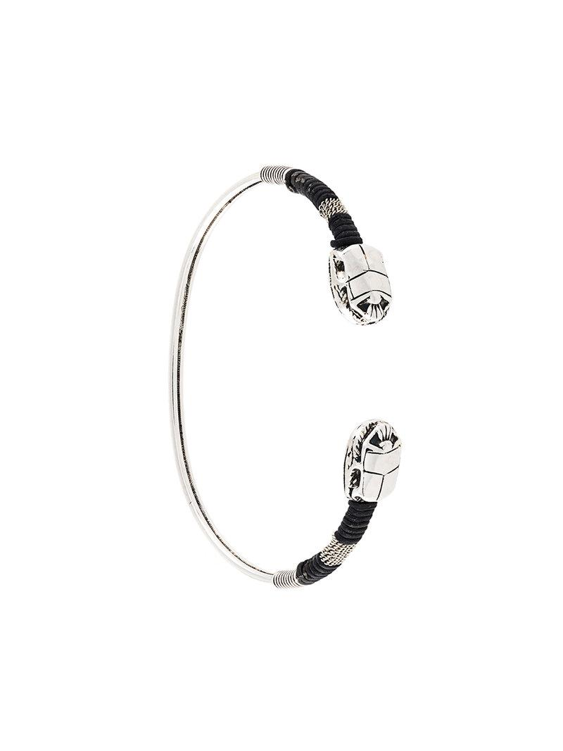 Gas Bijoux Duality large Scaramouche Twist bracelet - Metallic gu7jOcehv9