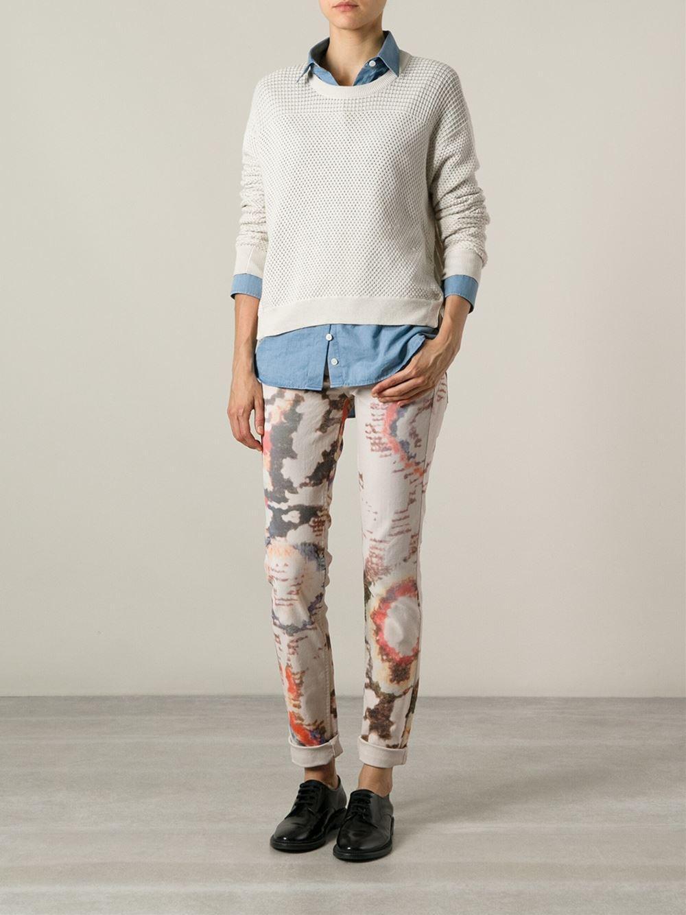 Étoile Isabel Marant Denim Digital Print Jeans