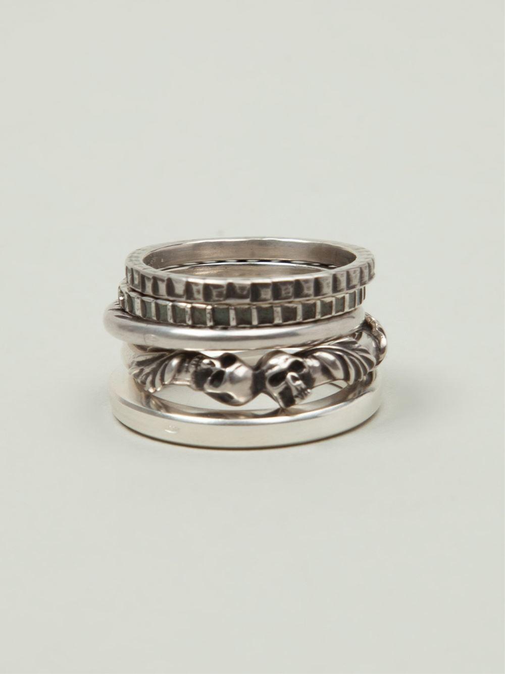 Werkstatt m nchen werkstatt m nchen stacked rings in metallic for men lyst - Mobel maxx munchen ...