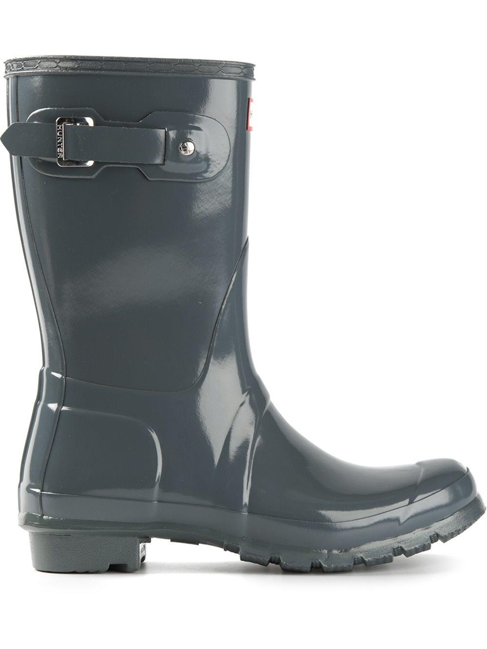 Hunter Rubber Original Short Gloss Wellington Boots In