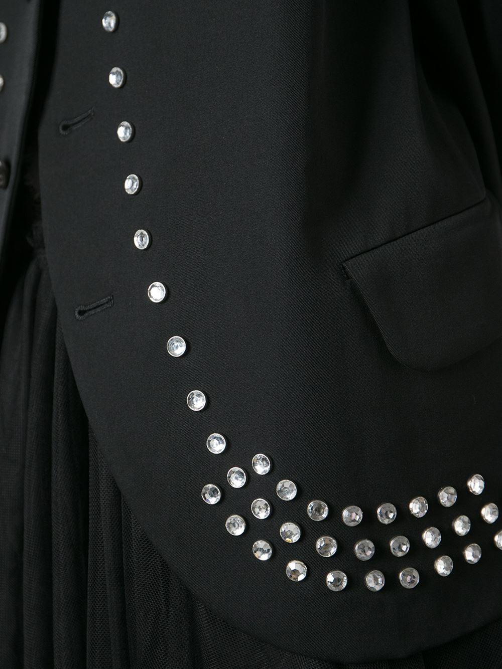 lyst comme des gar ons comme des gar ons vintage 39 robe de chambre 39 jacket in black. Black Bedroom Furniture Sets. Home Design Ideas