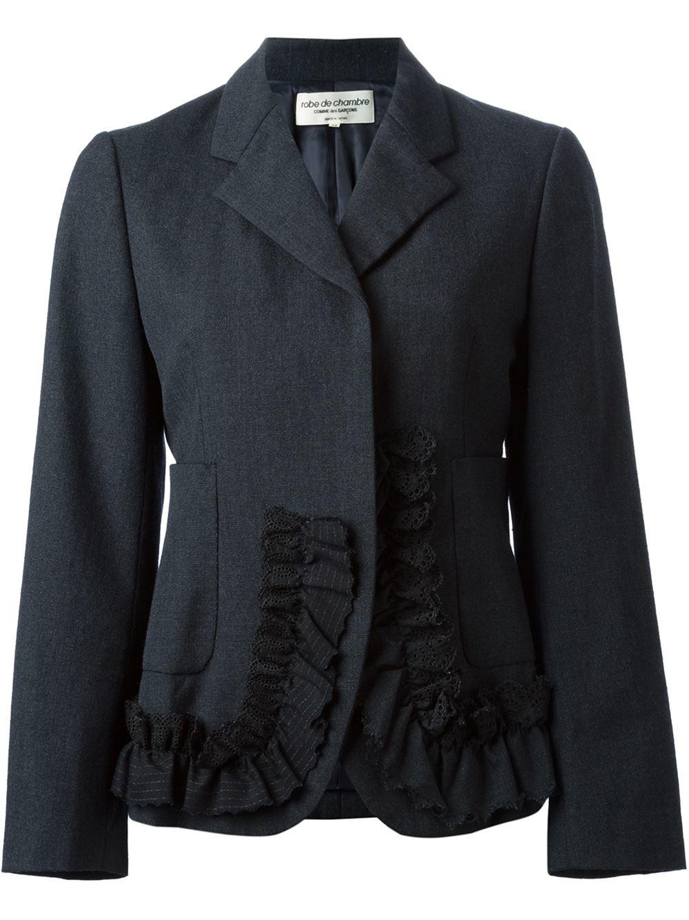 lyst comme des gar ons comme des gar ons vintage 39 robe de chambre 39 jacket in gray. Black Bedroom Furniture Sets. Home Design Ideas