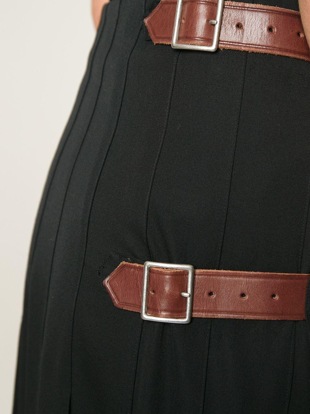 comme des gar ons 39 robe de chambre 39 kilt skirt in black lyst. Black Bedroom Furniture Sets. Home Design Ideas