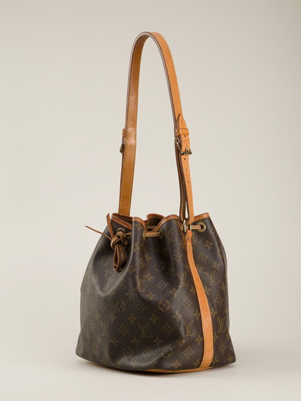 Lyst Louis Vuitton Monogram Petite Bucket Bag In Brown