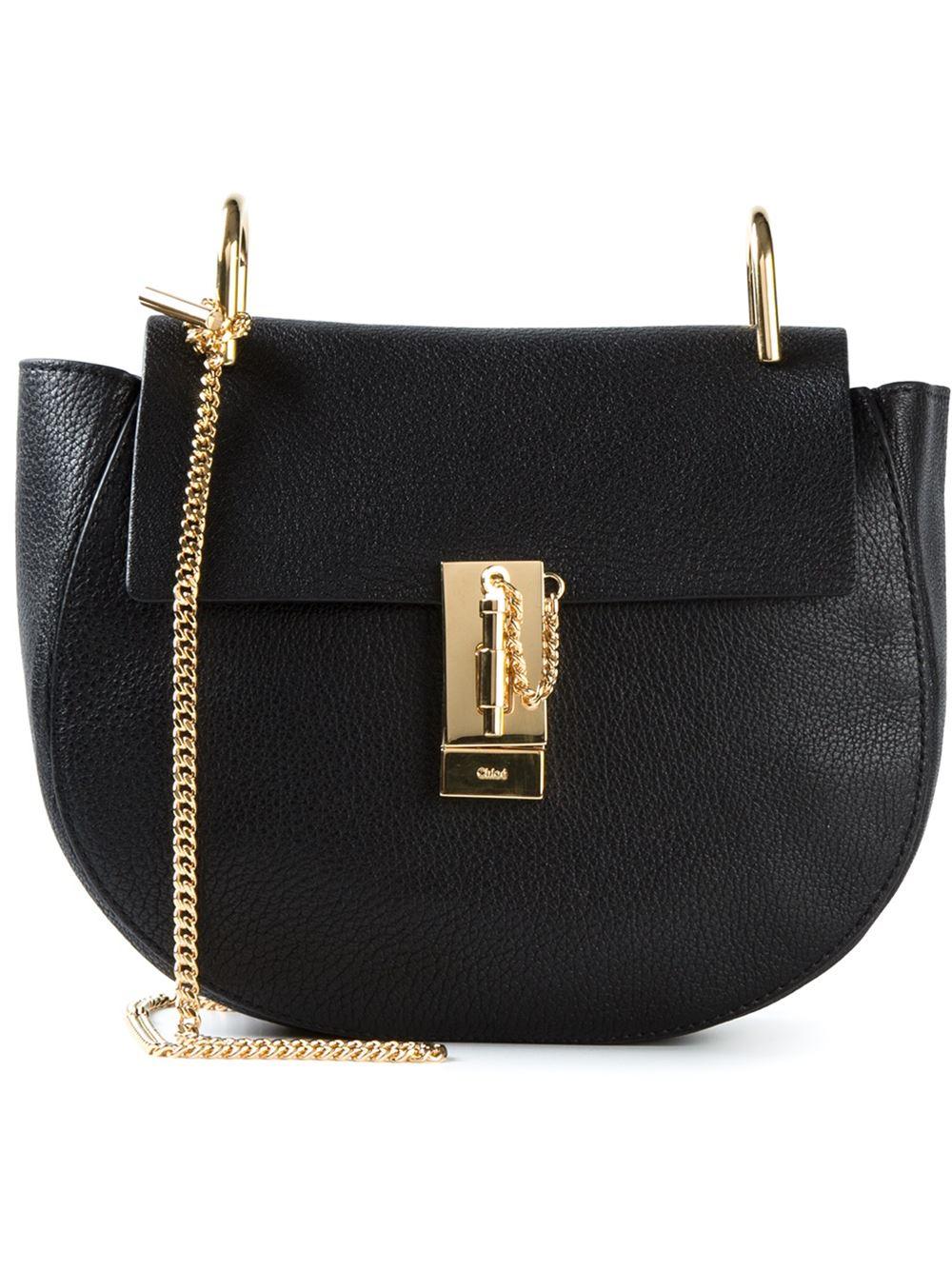 lyst chlo chlo 39 drew 39 shoulder bag in black. Black Bedroom Furniture Sets. Home Design Ideas