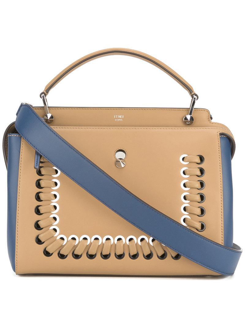 2e171df5f514 Fendi Dotcom Click Shoulder Bag in Natural - Lyst