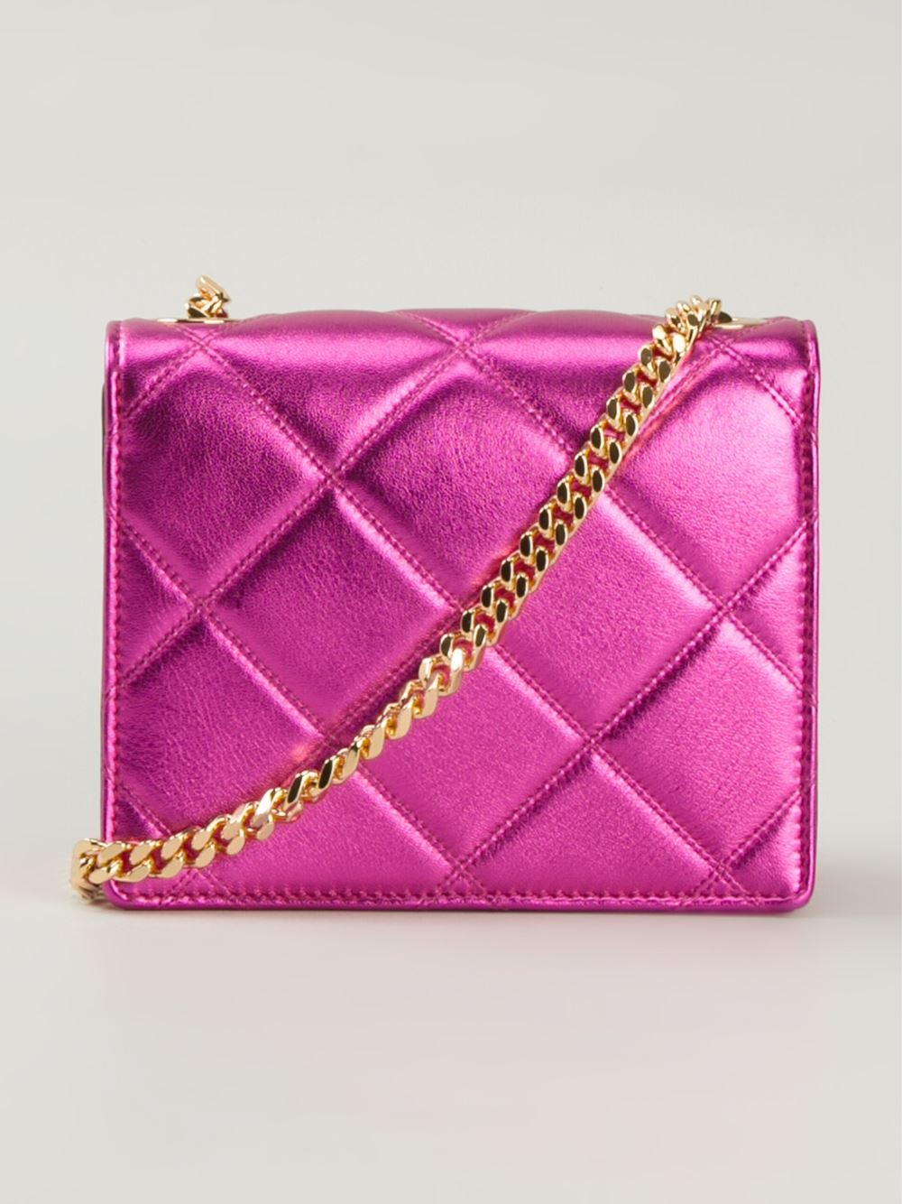 Marc Jacobs Leather Mini 'metallic Party Bow Trouble' Crossbody Bag in Pink/Purple (Pink)