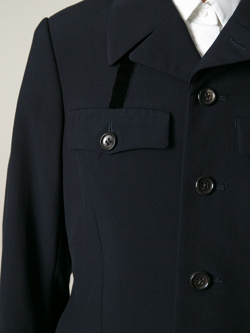 comme des gar ons 39 1997 robe de chambre 39 jacket in blue lyst. Black Bedroom Furniture Sets. Home Design Ideas
