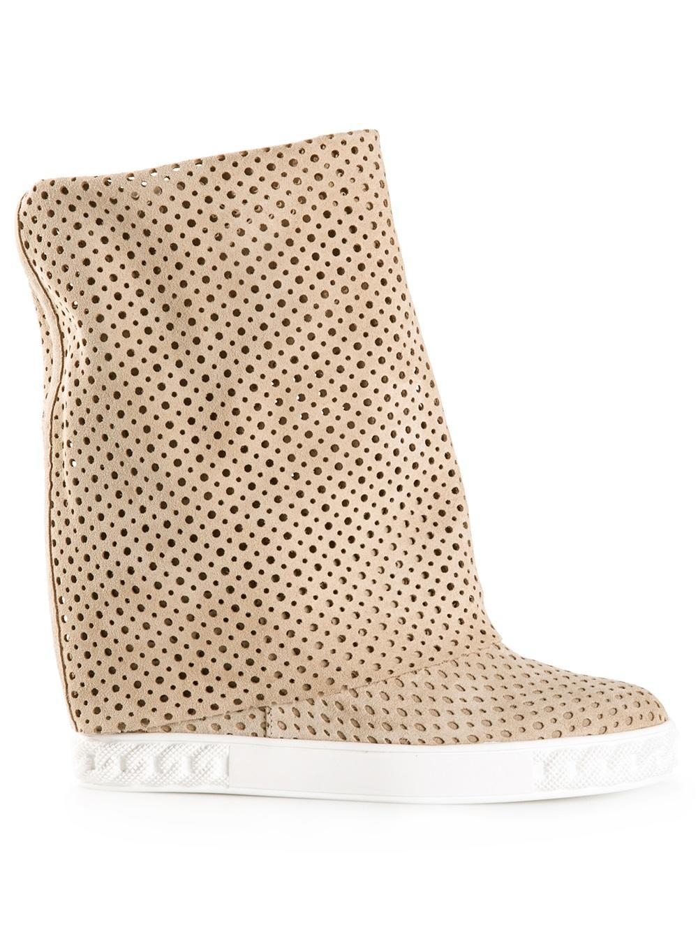 casadei concealed wedge boots in lyst