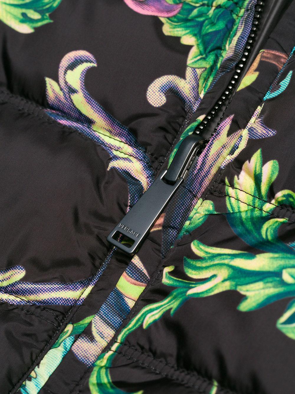 Versace Baroque Print Jacket in Black for Men