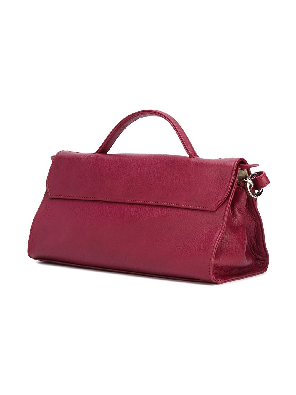Zanellato Leather Soft 'marsiglia' Crossbody Bag in Red