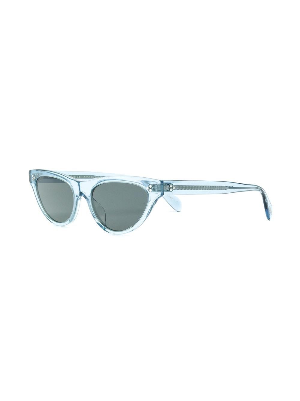Oliver Peoples Zasia Cat Eye Sunglasses in Blue