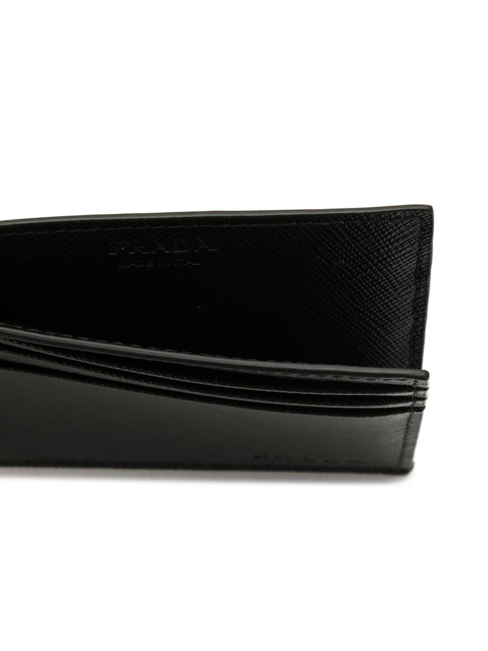 5298203b45eeac Prada - Gray Logo Embossed Cardholder for Men - Lyst. View fullscreen