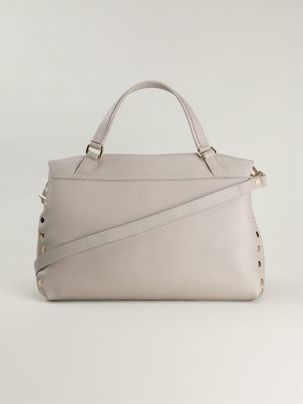 Zanellato Leather 'postina' Tote in Grey (Grey)