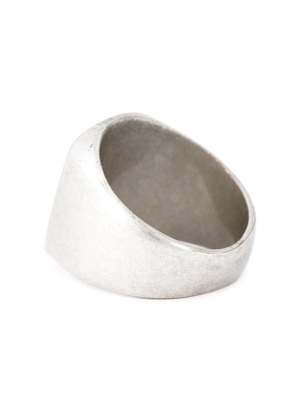 Maison Margiela Chunky Signet Ring in Metallic for Men