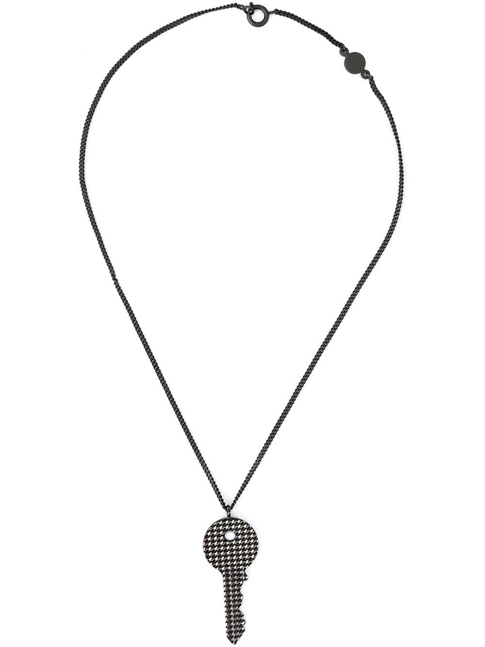 Lyst maison margiela key pendant necklace in metallic for men gallery aloadofball Image collections