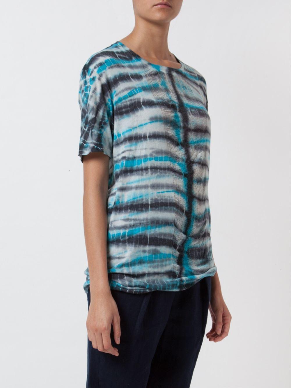 Raquel Allegra Tie Dye T Shirt In Blue Lyst