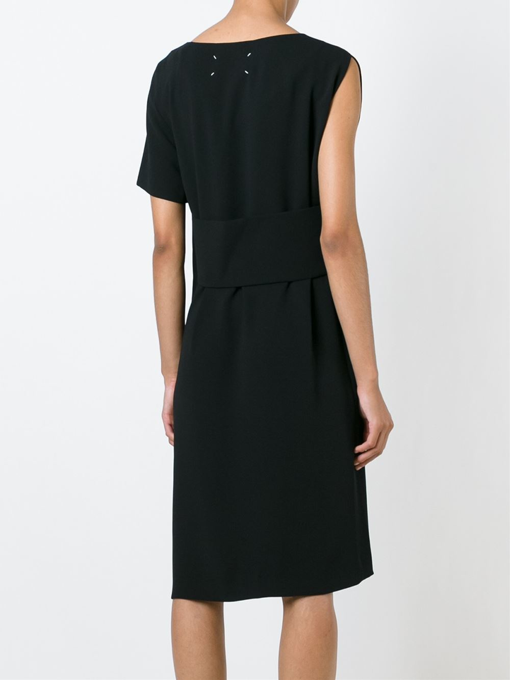 Lyst maison margiela banded asymmetric dress in black for Maison de margiela