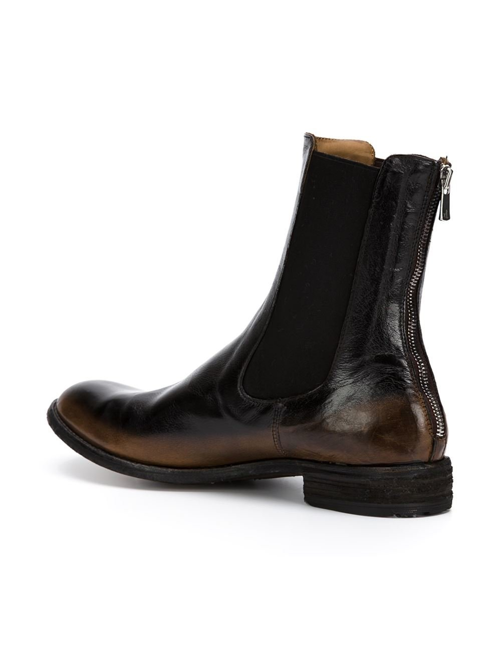Officine Creative Lexikon Leather Ankle Boots In Brown