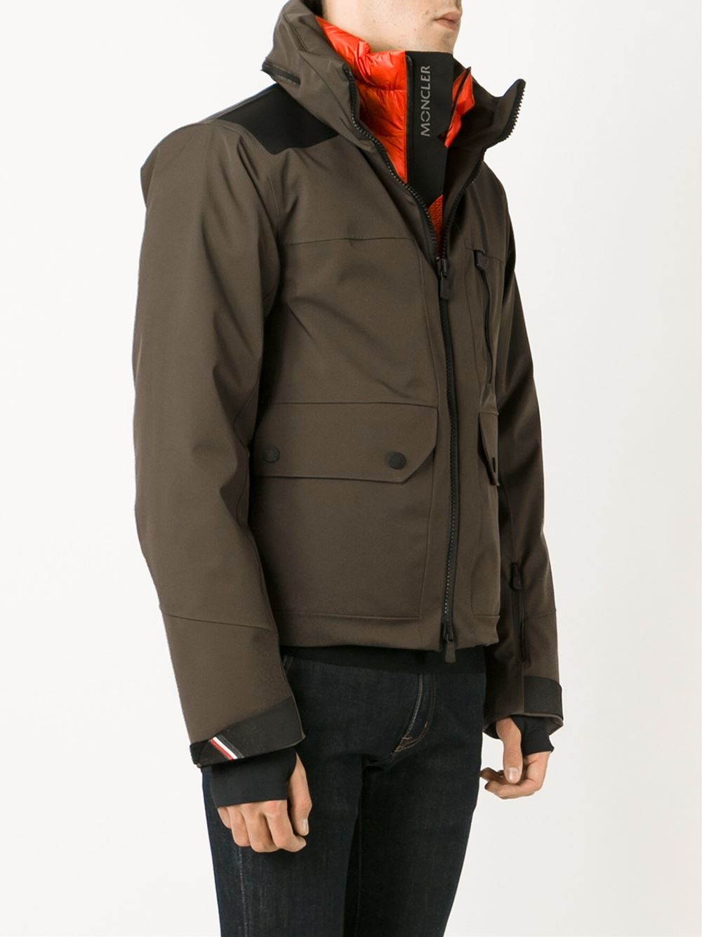3 MONCLER GRENOBLE Insert Padded Jacket in Green (Brown) for Men