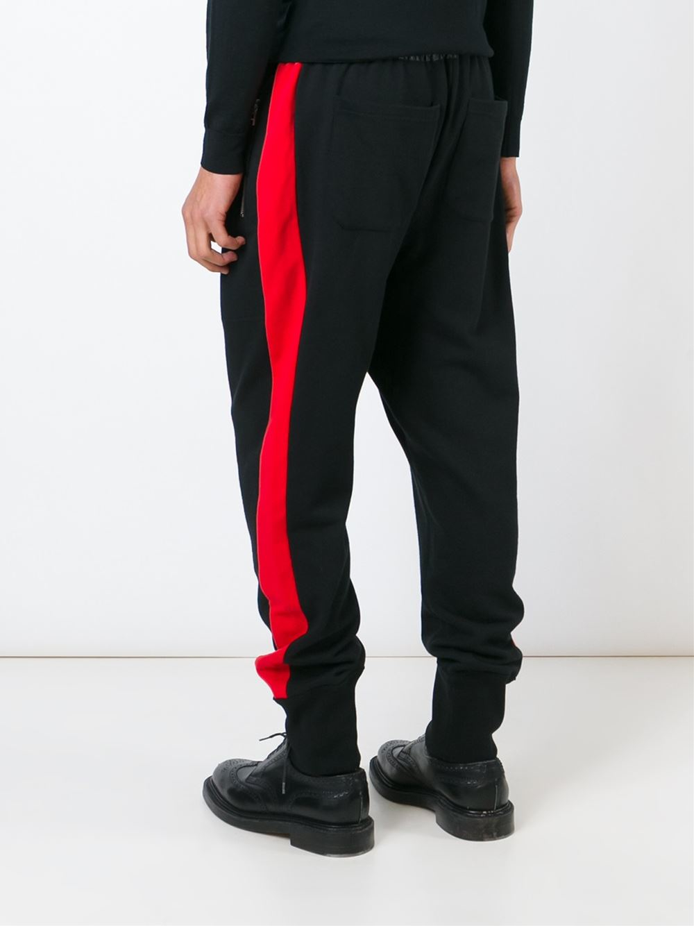 Unconditional Cotton 'band Plush' Trousers in Black for Men