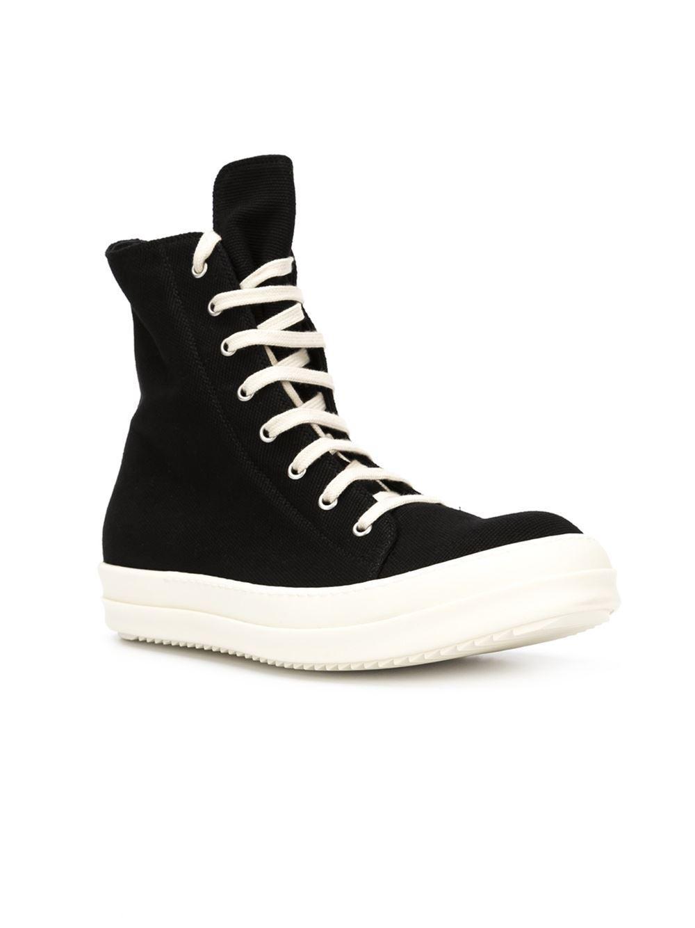 rick owens drkshdw 39 vegan 39 sneakers in black for men lyst. Black Bedroom Furniture Sets. Home Design Ideas