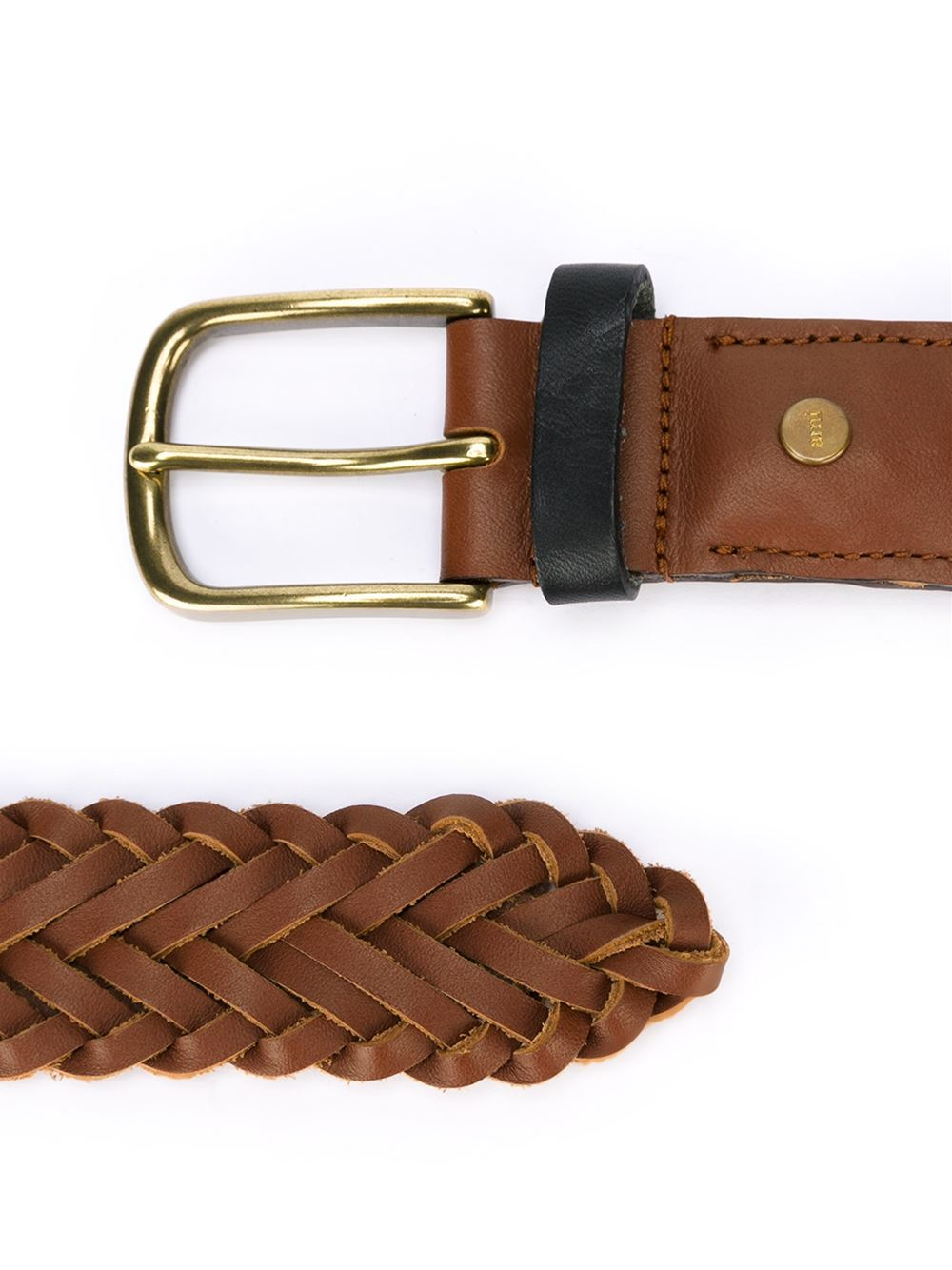ami woven belt in brown for lyst