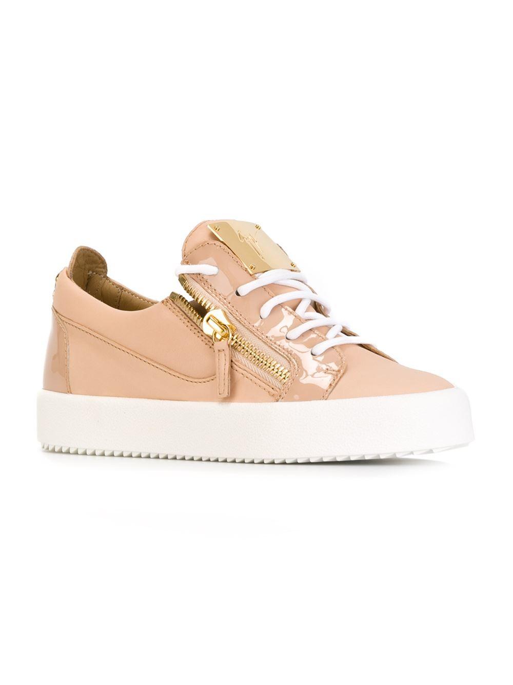 giuseppe zanotti low top sneakers in pink lyst