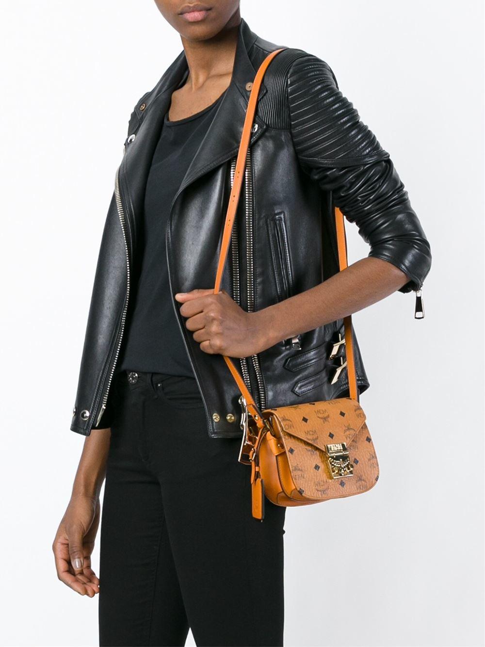 MCM Leather Printed Logo Cross-body Bag