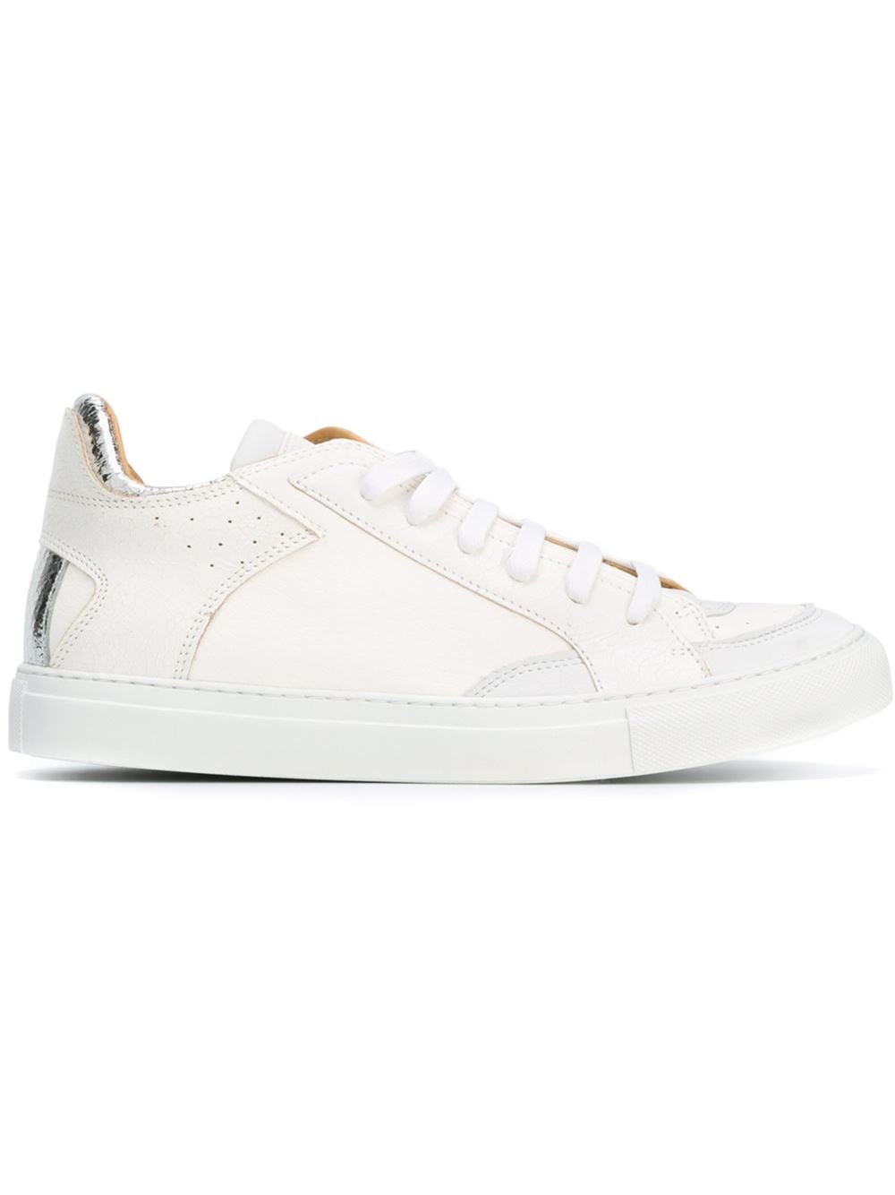 mm6 by maison martin margiela classic lo top sneakers in white lyst. Black Bedroom Furniture Sets. Home Design Ideas