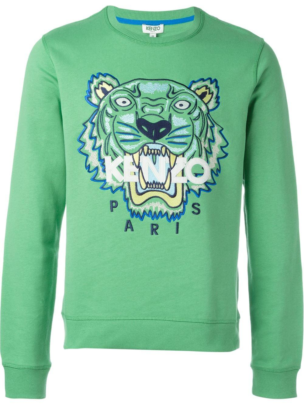 2afd2e4545a KENZO Green 'tiger' Sweatshirt for men