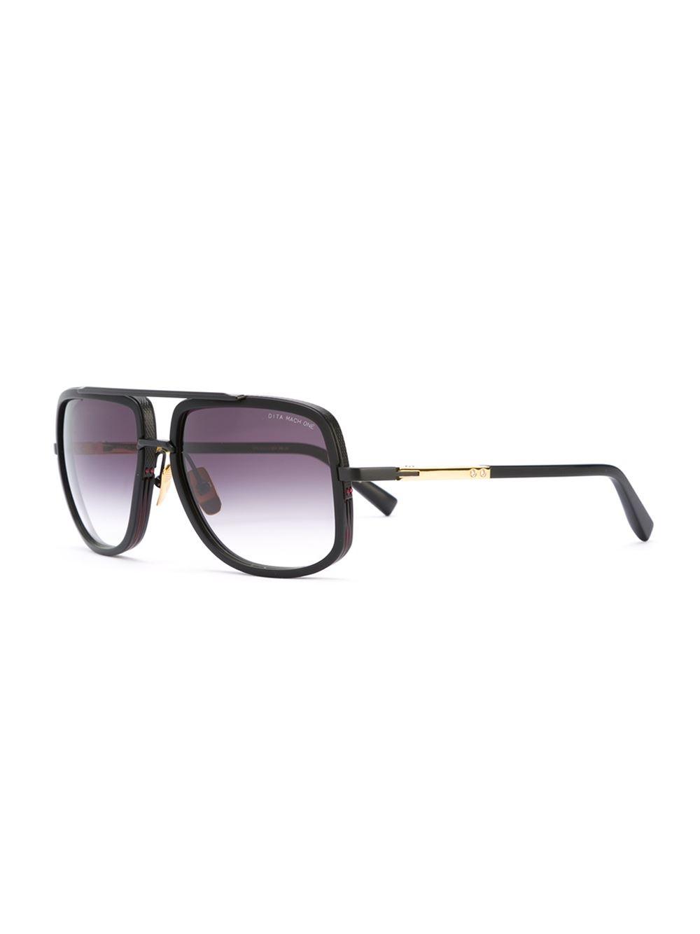 Dita Eyewear - 'mach One' Sunglasses - Men - Titanium - One Size in Black