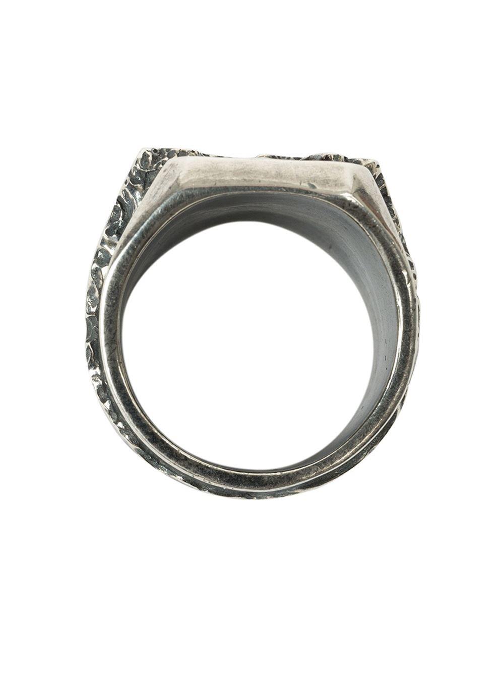 tobias wistisen broken logo ring in silver for