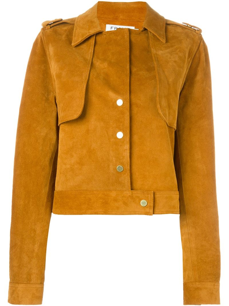 Frame Suede Jacket In Yellow  Lyst-3320