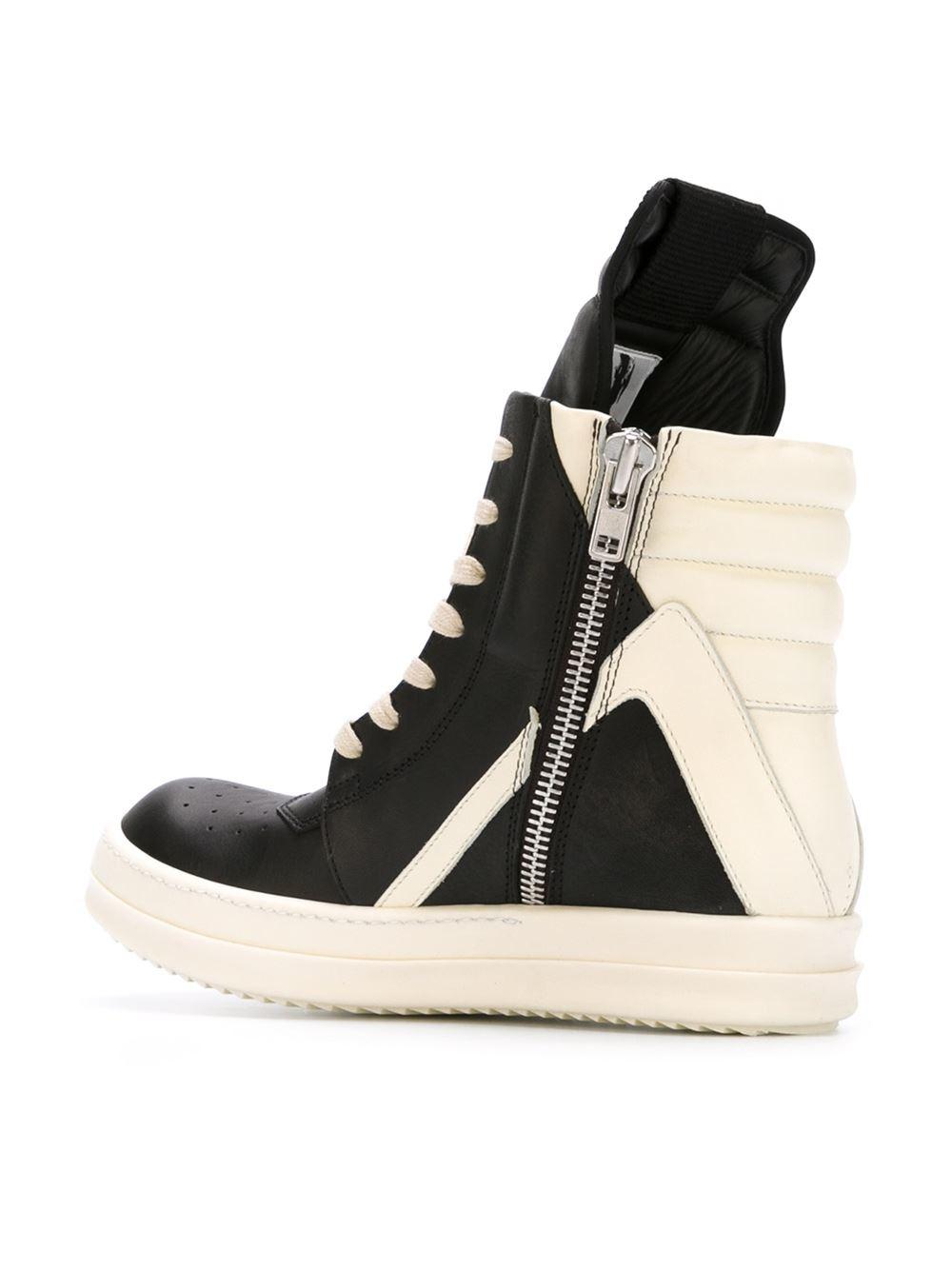 rick owens geobasket hi top sneakers in black lyst. Black Bedroom Furniture Sets. Home Design Ideas
