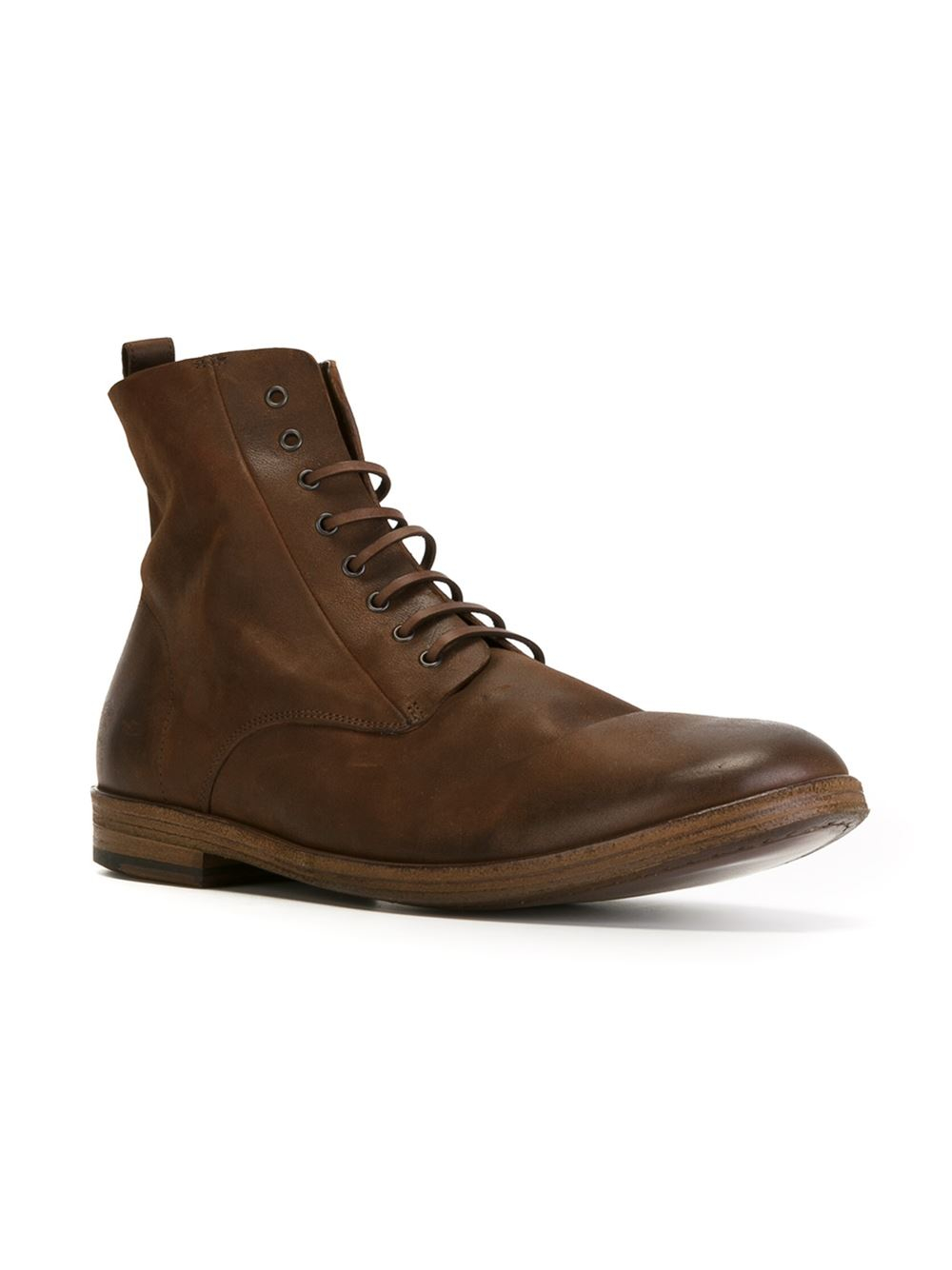 mars 232 ll lace up ankle boots in brown for lyst