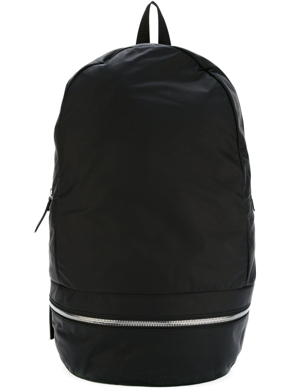 Z Zegna Front Zip Backpack In Black For Men | Lyst